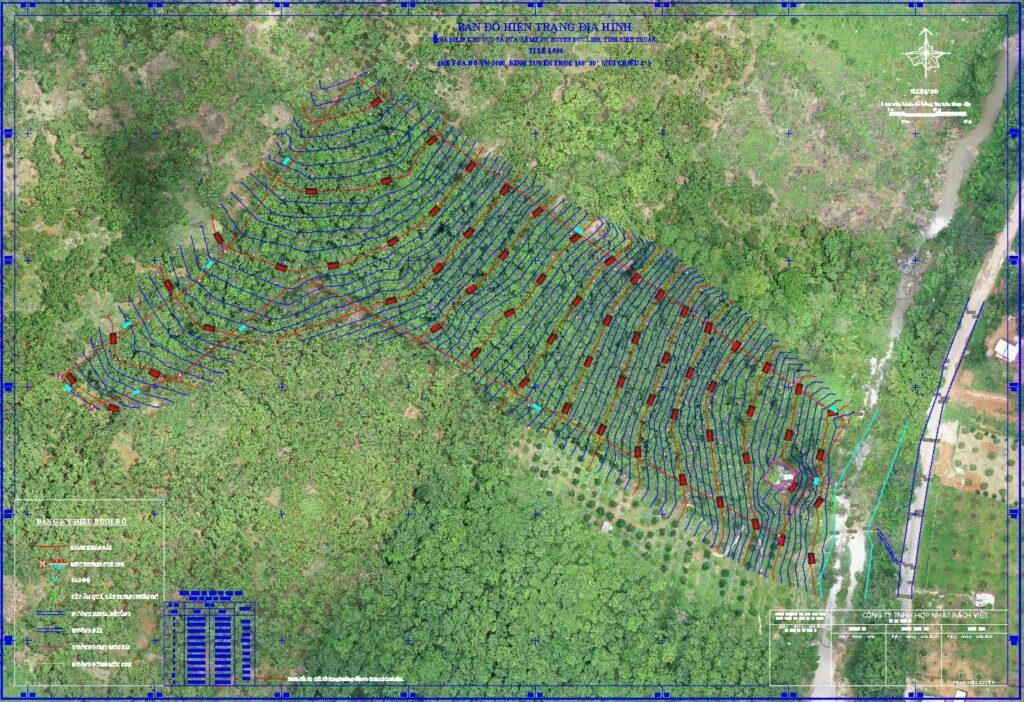 Kết quả khảo sát địa hình bằng flycam
